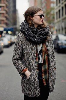 Вязаный шарф с люрексом