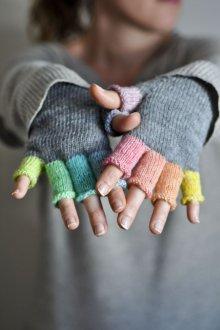 Митенки разноцветные