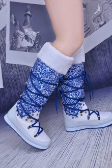 Дутики на шнуровке