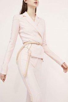 Белый кожаный ремень