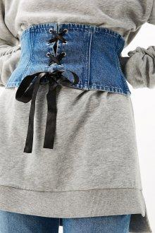 Широкий ремень джинсовый