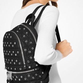 Кожаный рюкзак с клепками