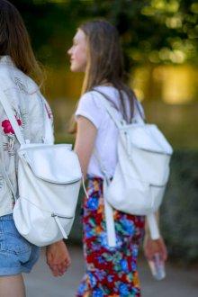 Кожаный рюкзак круглый
