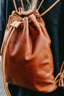 Кожаный рюкзак мешок