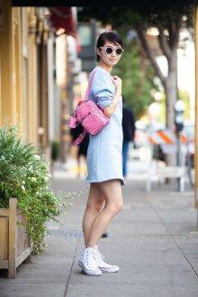 Кожаный рюкзак розовый