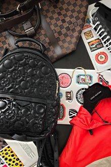 Кожаный рюкзак стеганый