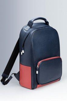 Кожаный рюкзак со вставками