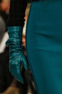 Кожаные перчатки бирюзовые
