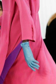 Кожаные перчатки голубые