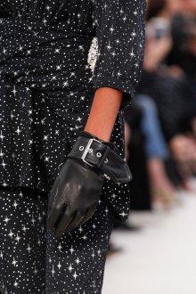 Кожаные перчатки с пряжкой