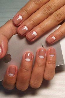 Маникюр на короткие ногти шеллак