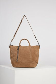 Бежевая сумка мягкая