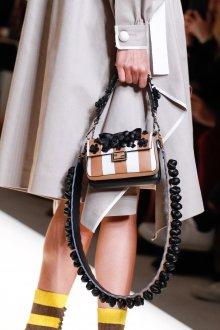 Бежевая сумка полосатая