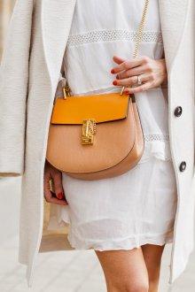 Бежево-желтая сумка