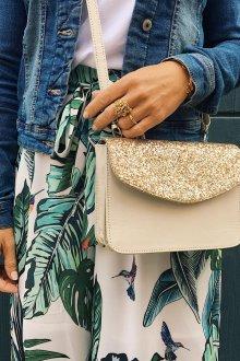 Бежево-золотая сумка