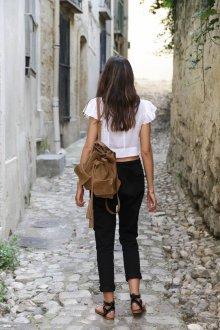 Маленький рюкзак коричневый