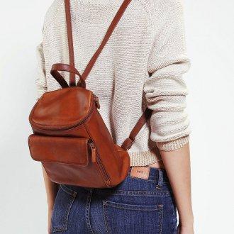 Маленький рюкзак кожаный