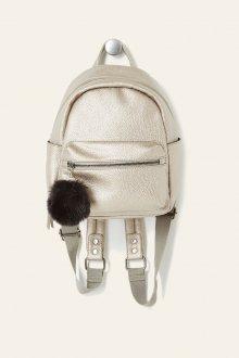 Маленький рюкзак из металлизированной кожи