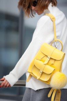Маленький рюкзак желтый