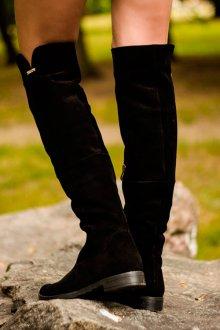 Ботфорты без каблука до колен
