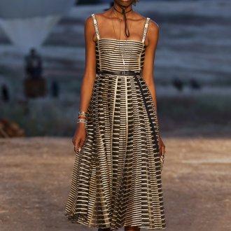 Платье с принтом Dior 2019