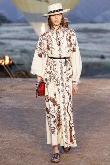 Платье с рисунком Dior 2019