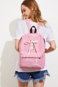 Розовый рюкзак с бантом