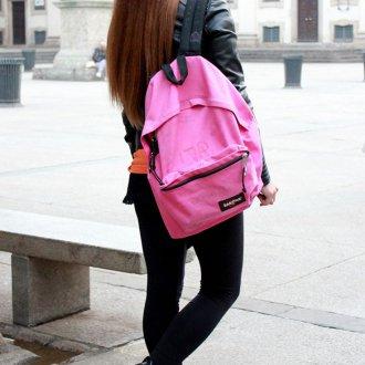 Розовый рюкзак большой