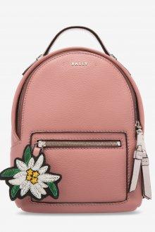 Розовый рюкзак с цветком