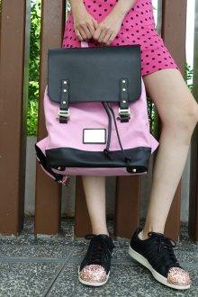 Розовый рюкзак комбинированный