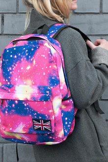 Розовый рюкзак космос