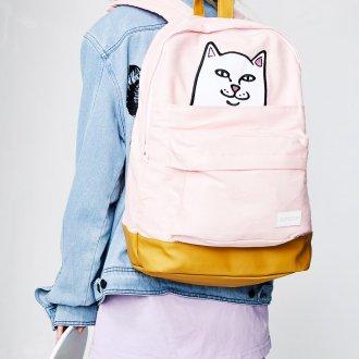 Розовый рюкзак с котом