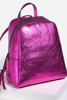 Розовый рюкзак металлик