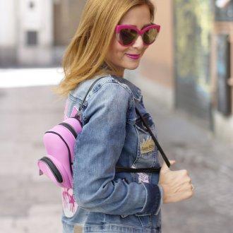 Розовый рюкзак мини