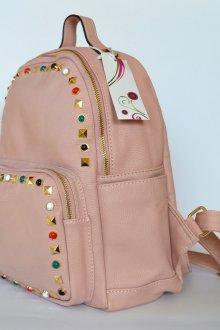 Розовый рюкзак пудровый