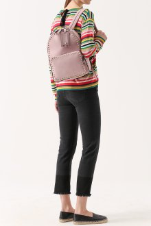 Серо-розовый рюкзак