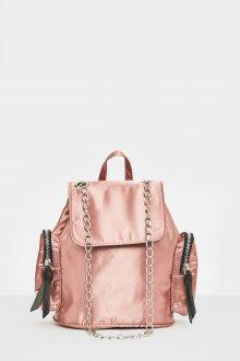 Розовый рюкзак текстильный