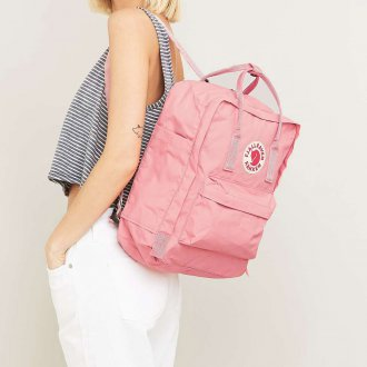 Розовый рюкзак тканевый