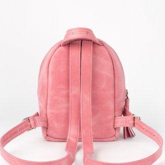 Розовый рюкзак замшевый