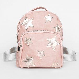 Розовый рюкзак со звездами
