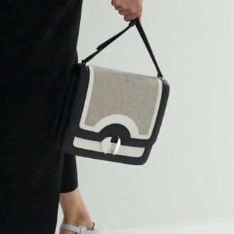 Сумка планшет из комбинированной кожи
