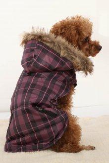 Зимний комбинезон для собак в клетку