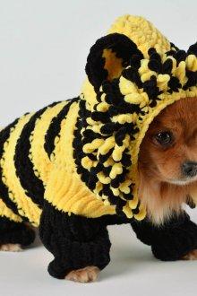 Зимний трикотажный комбинезон для собак