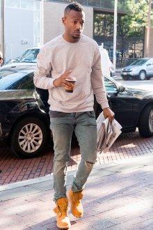 Тимберленды мужские с джинсами