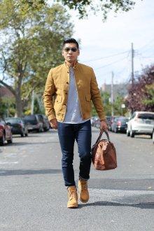 Мужские тимберленды с курткой