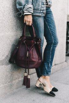 Деловая сумка бордовая