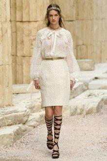 Круизная коллекция шанель белое платье 2018