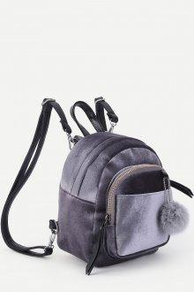 Бархатный серый рюкзак