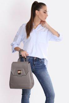 Серый рюкзак в деловом стиле