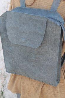 Серый рюкзак квадратный